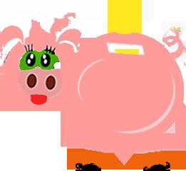 świnka oszczędza sporo na rachunkach za prąd