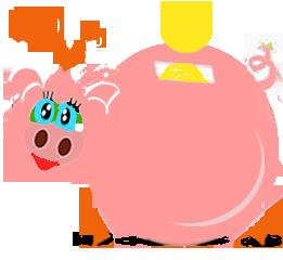 świnka oszczędza dużo na rachunkach za gaz